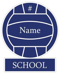 Volleyball Sign for gym--instead of school it could be team