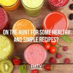 On the hunt for some healthy (and simple) recipes? Stop searching!  We've got lots to choose from in the recipe section of FMTV! https://www.fmtv.com/recipes