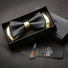 Free Shipping High quality men bow tie black gold color male leather bow tie PU butterfly tie formal suit wedding groom tie