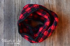 FREE Crochet Pattern: Crochet Plaid Scarf | Make this gorgeous and cozy plaid scarf this winter! It's a perfect trendy scarf with a touch or rustic.