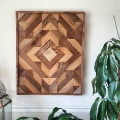 Reclaimed wood wall art / geometric wood art / ready to ship!