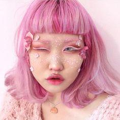 What a doll! @michellemoe in Lunar Sea eyeliner. ☁️ #limecrime #weirdgirlsunite