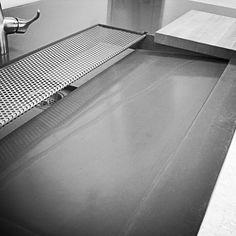 Concrete Prep Sink on Kitchen Island. Handmade by Concrete Works Bermuda. Prep Sink, Kitchen Island, Concrete, Bathroom, Handmade, Island Kitchen, Washroom, Hand Made, Full Bath
