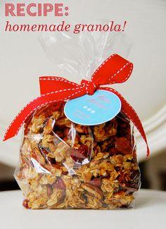 Homemade granola! Tastes like an oatmeal cookie. . . mmmm!