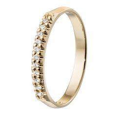 Kalevala Koru / Kalevala Jewelry / Kevätkaste-sormus 11 x 0,01 ct / 18K keltakulta tai valkokulta / #sormuskertootarinaa