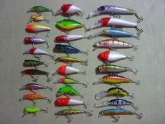awesome Huge Lot of 30 TOP Crankbait Fishing Lures Baits/ Tackle