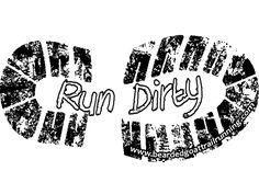 Custom made trail runner stickers!