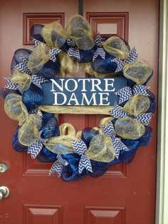 Notre Dame wreath I made for my husband.