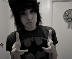 ..he is adorable. AND I'M WEARING MY BATMAN SHIRT TOO AKSFJAKLSDJF MEANT TO BE. <3