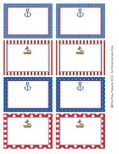 Nautical Sailboat Classroom Décor Bin Tag Labels - These sweet labels are great for decorating your classroom in a sailing theme. Use them as name tags or to label bins, lockers, book baskets and f.