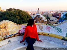 Fashion Student, Denise Wakiaga takes in the beautiful city, Barcelona. #UDAbroad