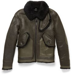 Coach - Leather-Trimmed Shearling Bomber Jacket | MR PORTER