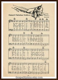 onward christian personals Authoritative information about the hymn text onward, christian soldiers, with lyrics, printable scores, midi files, audio recordings, and products for worship planners.