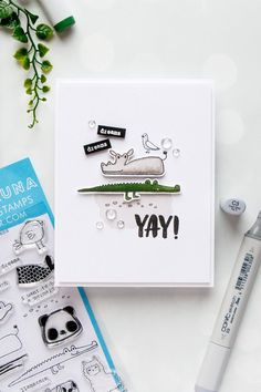 Flora & Fauna | Funny Croc & Hippo Card