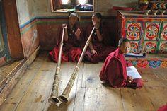 Young monks Bhutan, Painting, Art, Art Background, Painting Art, Kunst, Paintings, Performing Arts, Painted Canvas