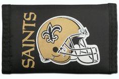 New Orleans Saints Nylon Trifold Wallet