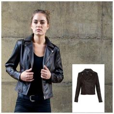 Diane Faux Leather Moto - Fine Design Trading Company - 1