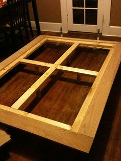 diy platform bed 5  Visit: http://queenplatformbed.org/  Like share and repin :) I would also put extra boards across the long rectangles.