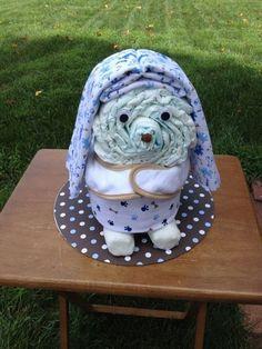 A floppy-eared dog. | 31 Diaper Cake Ideas That Are Borderline Genius