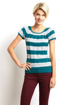 cute color combo: love the pants, not so much on the style of the top.