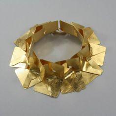 Bracelet | Joanna and Tadeusz Jaworscy.  Gold plated silver.