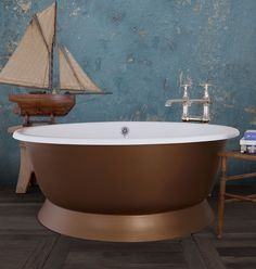 allow us to introduce the extraordinary: 'Le Tub'! A big round statement bath perfect for the entire family! www.hurlinghambaths.co.uk/cast-iron-bath-pai…/le-tub-painted #CastIron #Bath #Bathtub #Bathrooms #Bespoke #Luxury #Decor #Home Tub Paint, Round Bath, Cast Iron Bathtub, Luxury Decor, Bath Tubs, Clawfoot Bathtub, Baths, Bespoke, Bathrooms