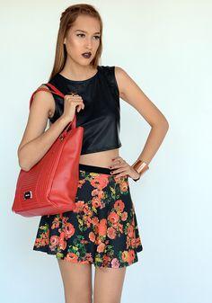 MINI FALDA RED ROSE | ATENEA BOUTIQUE