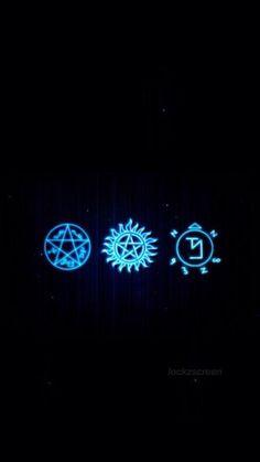 Wallpaper Lockscreen ✔ (Símbolos Supernatural)