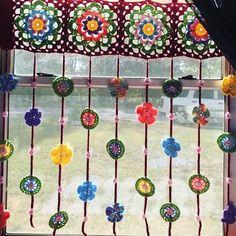 Crochet Curtain Pattern, Crochet Curtains, Curtain Patterns, Crochet Patterns, Crochet Borders, Crochet Squares, Stitch Patterns, Crochet Home Decor, Crochet Crafts
