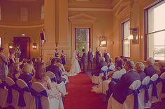 Customs House Brisbane Australia wedding ceremony, natural light , bay windows. Gingeryphotography.com.au