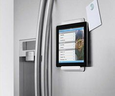Can use this iPad fridge mount to hang iPad on door in front of treadmill and watch TV with blue tooth headphones
