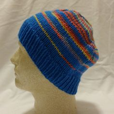 Fireworks Ahh  med/large beanie in blue by PurlyShells808 on Etsy, $15.00