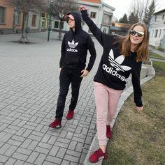 Adidas Trefoil Crop Hoodie ($60) ❤ liked on Polyvore