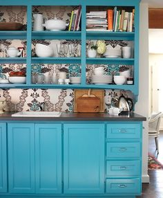 Blue Kitchen Cabinet | Photo Gallery: Top 10 Colourful Kitchens | House & Home