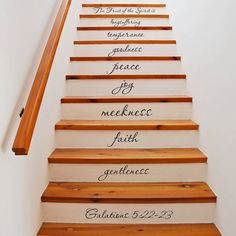 Fruit of the spirit Galatians 22 stair decals scripture vinyl wall decal