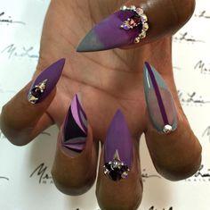 Purple passion nails, beautiful!!!!!