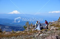 Couple Backpacking Royalty Free Stock Photo