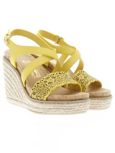SALVATORE FERRAGAMO Gioela Laser Cut Leather Wedges. #salvatoreferragamo #shoes #wedges