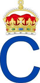 Royal Monogram of Prince Charles of Great Britain