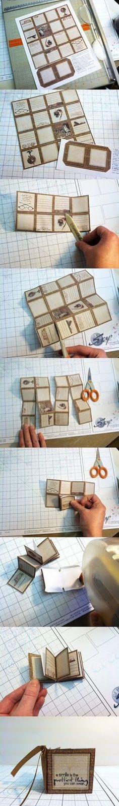 How to make a mini book: