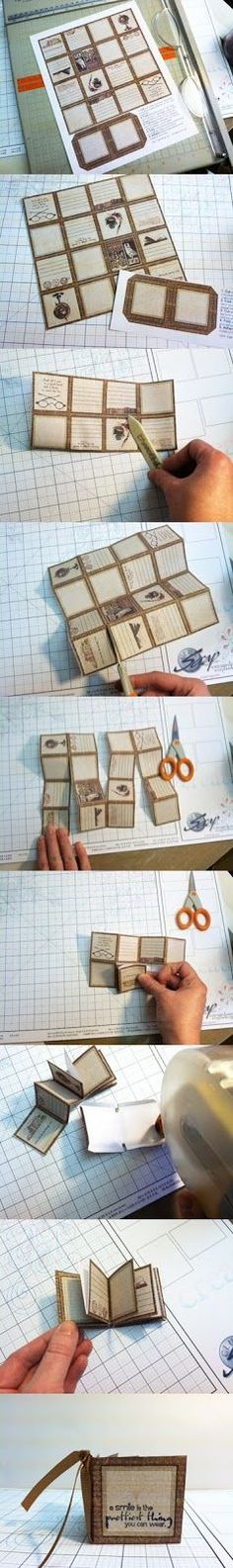 How to make a mini book: