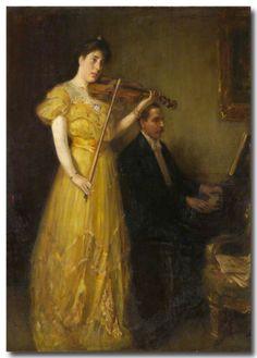 Douglas Strachan (1875-1950) - JG Burnett & Mrs Burnett, 1907, huile sur toile, 189 x 141,5 cm, l'Université d'Aberdeen, Écosse