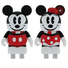 Vinylmation Mickey and Minnie Mouse Skating 3'' Figure Set