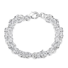 Romantic Silver Plated Round Bracelet for Unisex SPB036