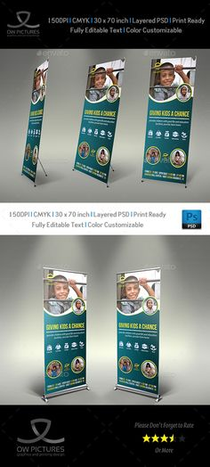 signage roll up banner description kids charity signage roll up banner template was designed