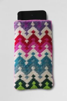 VERY cute needlepoint iphone cover.