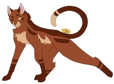 100 Warrior Cats Challenge 33 - Oakheart He's supposed to be stretching…it worked, maybe not, but I really like how his design turns out!