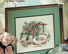 Leisure Arts 2742 Delicate Beauties Book Fifty-Nine by Paula Vaughan Cross Stitch Designs, Cross Stitch Patterns, Beauty Book, Cross Stitch Flowers, Cross Stitch Embroidery, Print Patterns, Sewing Crafts, Needlework, Vintage World Maps