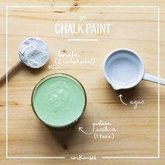 Cómo hacer pintura chalk paint casera: 3 recetas fáciles y económicas para conseguir una pintura estilo chalk paint para tus proyectos DIY