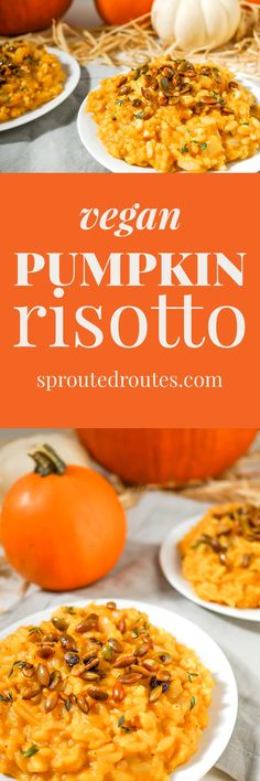 Creamy Pumpkin Risotto with Sweet and Spicy Roasted Pepitas (Vegan, Gluten Free) | Sprouted Routes